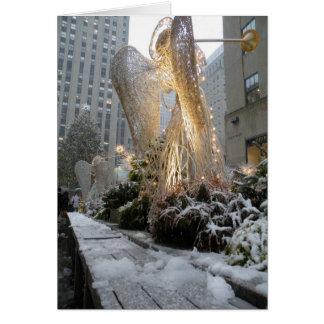 Ángel del navidad de NYC Felicitacion