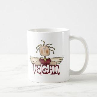 Ángel del navidad del vegano taza