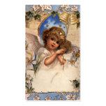 Ángel del navidad del Victorian del vintage con la Tarjeta De Visita