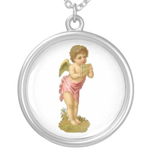 Ángel del navidad del Victorian del vintage con lo Joyeria Personalizada