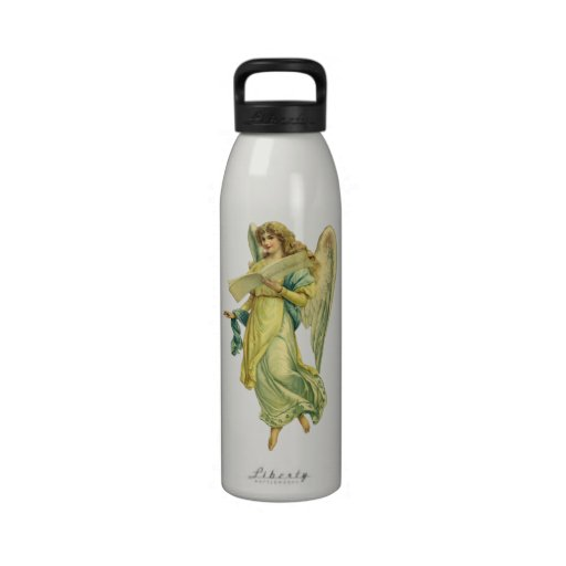 Ángel del navidad del Victorian; Gloria en Botella De Agua Reutilizable