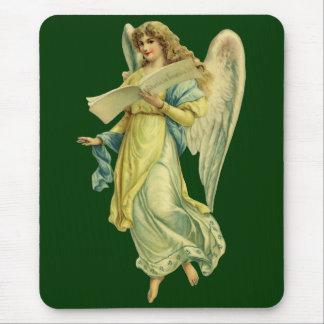 Ángel del navidad del Victorian; Gloria en Excelsi Alfombrillas De Ratones