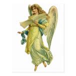 Ángel del navidad del Victorian; Gloria en Postales