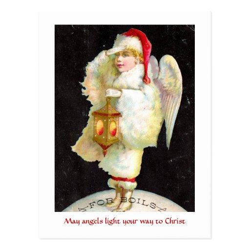 Ángel del navidad del Victorian Tarjetas Postales