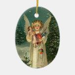 Ángel del navidad del vintage adorno