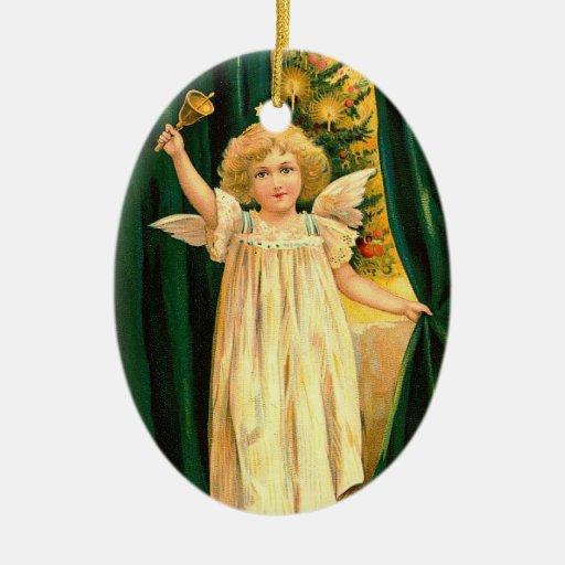 Ángel del navidad del vintage ornamento para arbol de navidad
