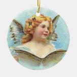 Ángel del navidad del vintage ornamentos de reyes