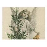 Ángel del navidad del vintage postal