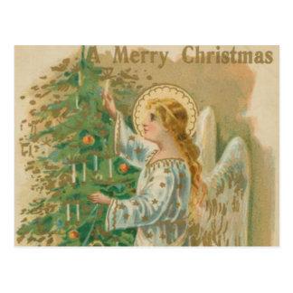 Ángel del navidad del vintage postales