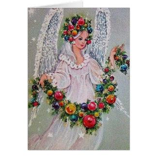 Ángel del navidad del vintage tarjetas