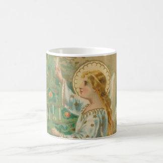 Ángel del navidad del vintage taza de café