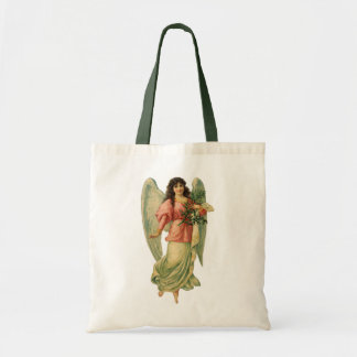 Ángel del navidad del vintage, Victorian angelical Bolsa Tela Barata