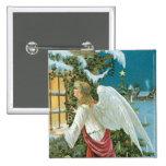 Ángel del navidad en la ventana pin