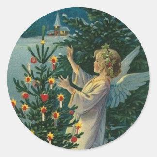 Ángel del navidad etiqueta