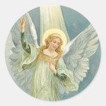 Ángel del navidad etiquetas redondas