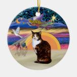Ángel del navidad - gato de calicó (Amer. Pelo cor Ornamentos Para Reyes Magos