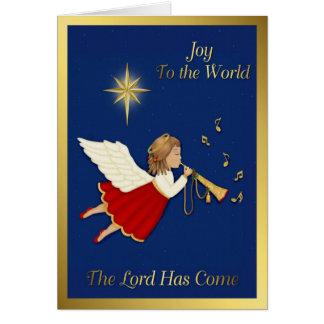 Ángel del navidad tarjeton