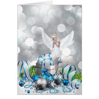 Ángel del navidad tarjetón