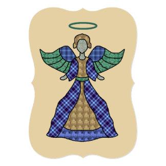 """Ángel del oro y del muchacho azul invitación 5"""" x 7"""""""