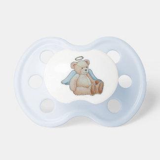 Ángel del oso de peluche del navidad chupetes para bebés