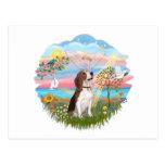 Ángel del otoño - beagle 2 postal