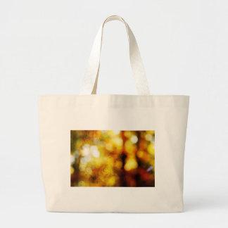 Ángel del otoño con Bokeh texturizado Bolsa Tela Grande