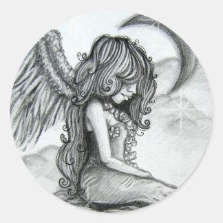 Ángel del pegatina de la luna