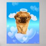 Ángel del perrito póster