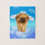 Ángel del perrito puzzles con fotos
