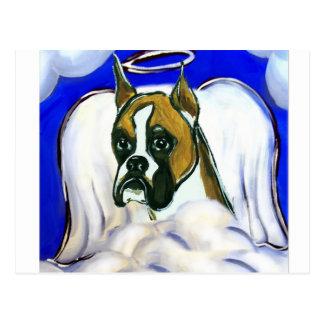Ángel del perro del boxeador tarjeta postal