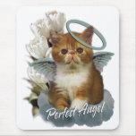 Ángel del persa de la concha alfombrillas de ratones