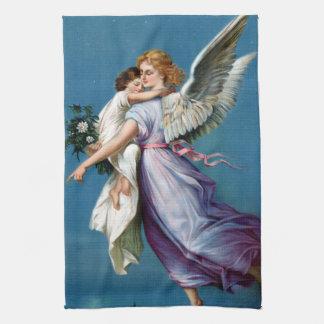 Ángel del poster del vintage de la paz restaurado toalla
