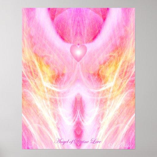 Ángel del poster divino del amor