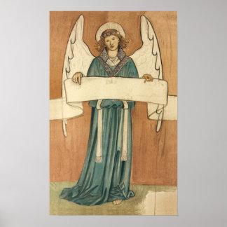 Ángel del Pre-Raphaelite del Victorian del vintage Posters