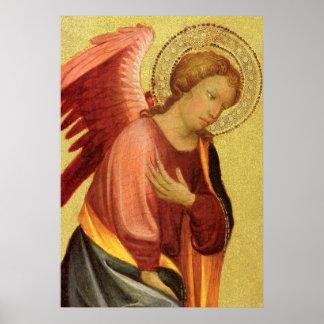 Ángel del renacimiento por el amo del Bambino Póster