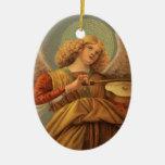 Ángel del renacimiento que toca el violín Melozzo  Ornamentos De Navidad