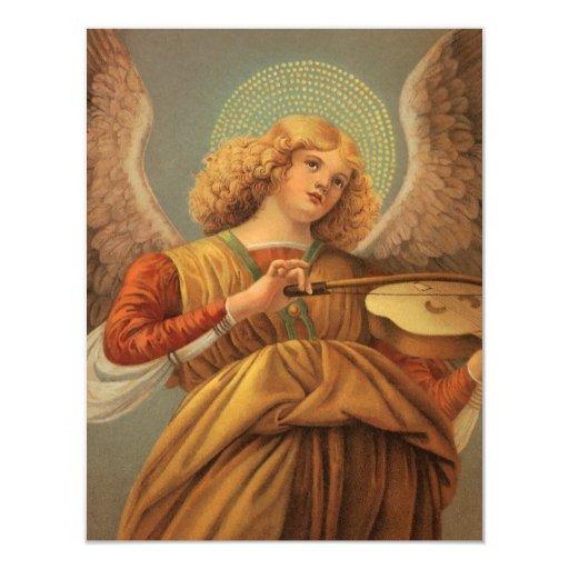 Ángel del renacimiento que toca el violín Melozzo Comunicado