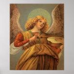 Ángel del renacimiento que toca el violín Melozzo  Poster
