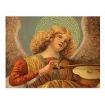 Ángel del renacimiento que toca el violín Melozzo  Tarjeta Postal