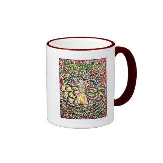 Ángel del rezo de la serenidad (texto español) taza de café