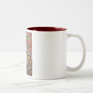 Ángel del rezo de la serenidad (texto español) tazas de café