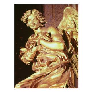 Ángel del tabernáculo en bendecido postal