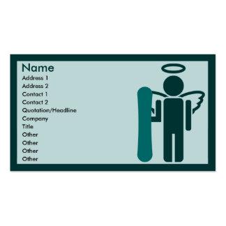 ángel del tablero: tarjetas de visita