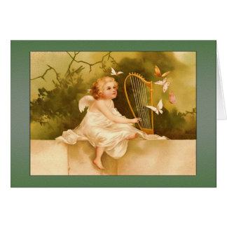 Ángel del Tarjeta-Bebé del ángel del vintage con l