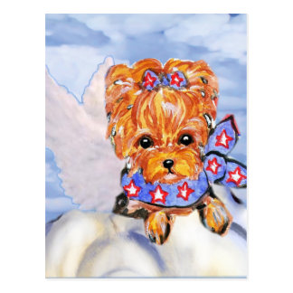 Ángel del terrier de Yorkshire Tarjeta Postal