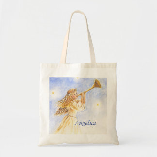 Ángel del tote del navidad con el bolso de encargo bolsa tela barata