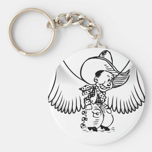 Ángel del vaquero llavero personalizado