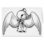Ángel del vaquero tarjeta