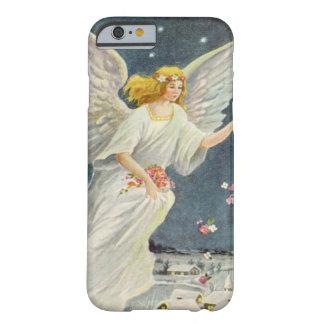Ángel del Victorian del navidad del vintage con Funda De iPhone 6 Barely There