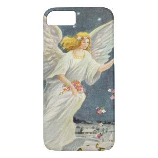 Ángel del Victorian del navidad del vintage con Funda iPhone 7